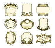 Reeks van uitstekend frames ontwerp stock illustratie