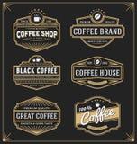 Reeks van uitstekend kaderontwerp voor etiketten, banner Royalty-vrije Stock Foto