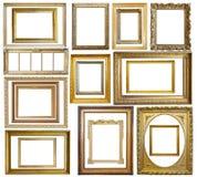 Reeks van Uitstekende gouden omlijsting Royalty-vrije Stock Foto