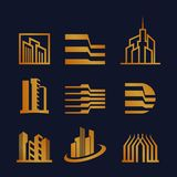 Reeks van Uniek Real Estate Logo Design vector illustratie