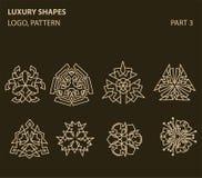 Reeks van universeel bloemen minimaal geometrisch embleem Royalty-vrije Stock Foto's