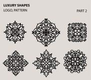 Reeks van universeel bloemen minimaal geometrisch embleem Royalty-vrije Stock Foto