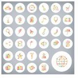 Reeks van van verkoopetiketten en pictogrammen ontwerp Stock Foto's