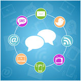 Reeks van vector communicatie pictogram Stock Foto