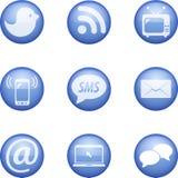 Reeks van vector communicatie pictogram Stock Foto's