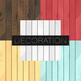 Reeks van 5 vector houten realistische texturenkleuren royalty-vrije illustratie
