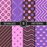 Reeks van vector naadloos abstract patroon Stock Foto
