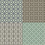 Reeks van vector naadloos patroon Stock Foto's