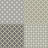 Reeks van vector naadloos patroon Stock Foto