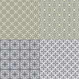 Reeks van vector naadloos patroon Royalty-vrije Stock Fotografie