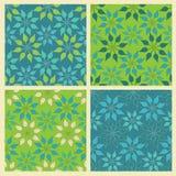 Reeks van vector naadloos patroon met bladeren Royalty-vrije Stock Foto