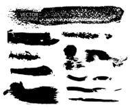 Reeks van vector zwarte inkt Stock Foto