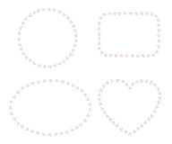 Reeks van 4 vectordiekaders van klaverbladeren worden gemaakt Stock Afbeelding