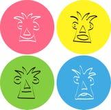 Reeks van vectorglimlach emoticons Royalty-vrije Stock Afbeeldingen
