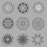 Reeks van vectorontwerp van bloemen Royalty-vrije Stock Foto
