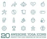 Reeks van Vectoryoga Zen Sport Elements Royalty-vrije Stock Afbeelding
