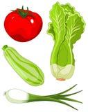 Reeks van vegetables5 Stock Afbeeldingen