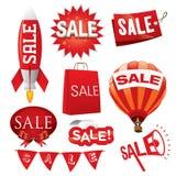 Reeks van verkoopvector Stock Afbeelding