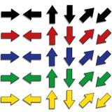 Geplaatste pijlen Stock Afbeelding