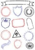 Reeks van verschillende spot op zegels. Royalty-vrije Stock Fotografie
