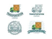 Reeks van vervoersembleem Stock Illustratie