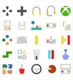 Reeks van Videospelletje vector vlakke pictogram of illustratie o stock illustratie
