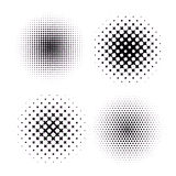 Reeks van vier Abstracte Halftone Achtergronden Vector Stock Foto