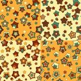 Reeks van vier abstracte naadloze patronen Royalty-vrije Stock Afbeelding