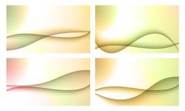 Reeks van vier achtergronden Stock Afbeelding