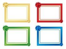 Reeks van vier frames met bogen Royalty-vrije Stock Fotografie