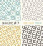 Reeks van vier geometrische patronen Royalty-vrije Stock Afbeelding