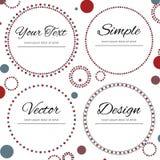 Reeks van vier gestippelde cirkels voor uw tekst Royalty-vrije Stock Fotografie