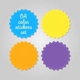 Geplaatste de Stickers van de kleur Stock Foto's