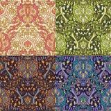 Reeks van vier kleurrijke naadloze patronen Royalty-vrije Stock Fotografie