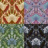 Reeks van vier kleurrijke naadloze patronen Royalty-vrije Stock Foto