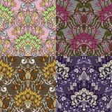 Reeks van vier kleurrijke naadloze patronen. Eps-8. Royalty-vrije Stock Fotografie