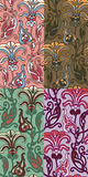 Reeks van vier kleurrijke naadloze patronen. Eps-8. Royalty-vrije Stock Foto's