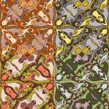 Reeks van vier kleurrijke naadloze patronen. Eps-8. Stock Foto's