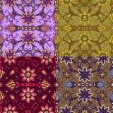 Reeks van vier kleurrijke naadloze patronen. Eps-8. Royalty-vrije Stock Foto