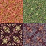 Reeks van vier kleurrijke naadloze patronen. Eps-8. Royalty-vrije Stock Afbeelding