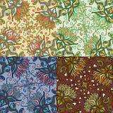 Reeks van vier kleurrijke naadloze patronen. Eps-8. Stock Fotografie