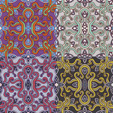Reeks van vier kleurrijke naadloze patronen Eps-8 Royalty-vrije Stock Foto