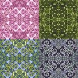Reeks van vier kleurrijke naadloze patronen Eps-8 Royalty-vrije Stock Foto's