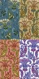 Reeks van vier kleurrijke naadloze patronen Eps-8 royalty-vrije illustratie