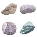 Reeks van vier mineralen Stock Afbeelding