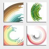 Reeks van vier mooie abstracte achtergronden Abstracte flits lichte cirkels Royalty-vrije Stock Foto's