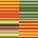 Reeks van vier naadloze gestreepte geometrische patronen Stock Afbeeldingen