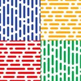 Reeks van vier naadloze halftone patronen Abstracte eindeloze achtergronden Royalty-vrije Stock Foto's