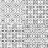 Reeks van vier naadloze netten Vector Illustratie