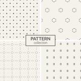 Reeks van vier naadloze patronen royalty-vrije illustratie